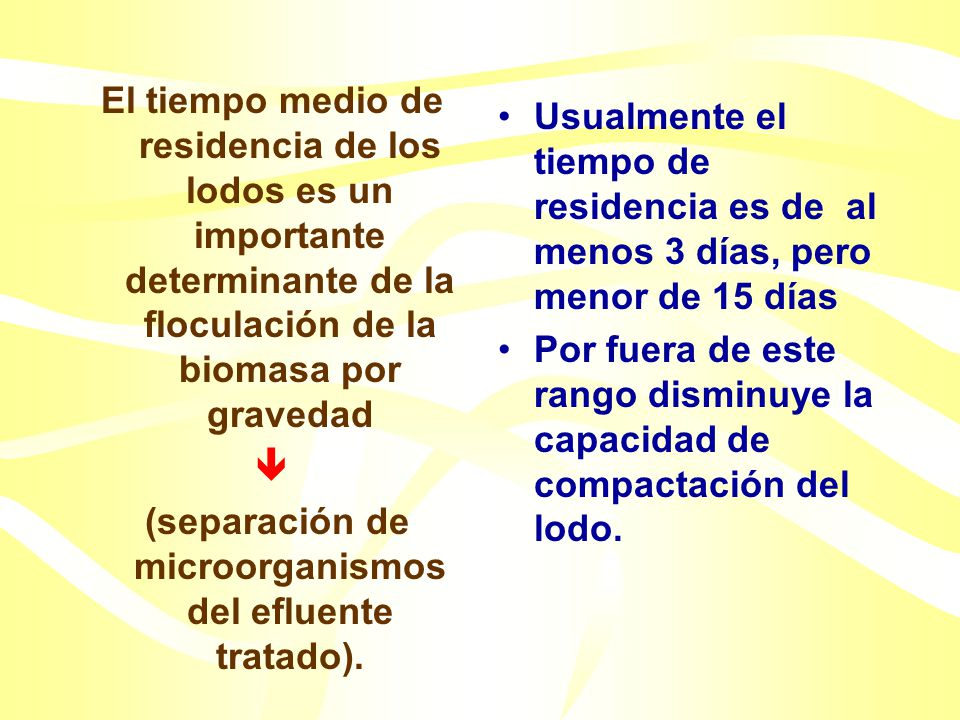 (separación de microorganismos del efluente tratado).