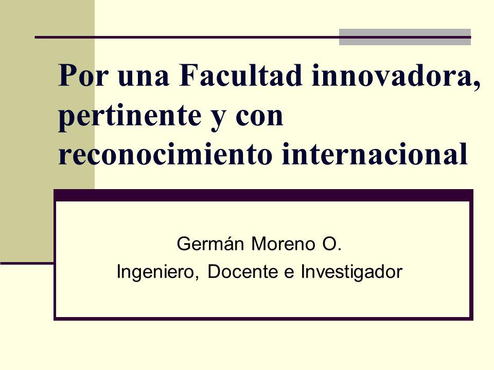 Germán Moreno O. Ingeniero, Docente e Investigador