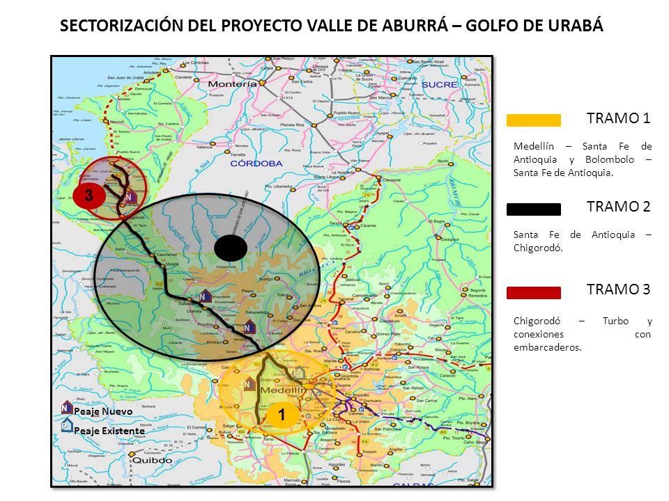 SECTORIZACIÓN DEL PROYECTO VALLE DE ABURRÁ – GOLFO DE URABÁ