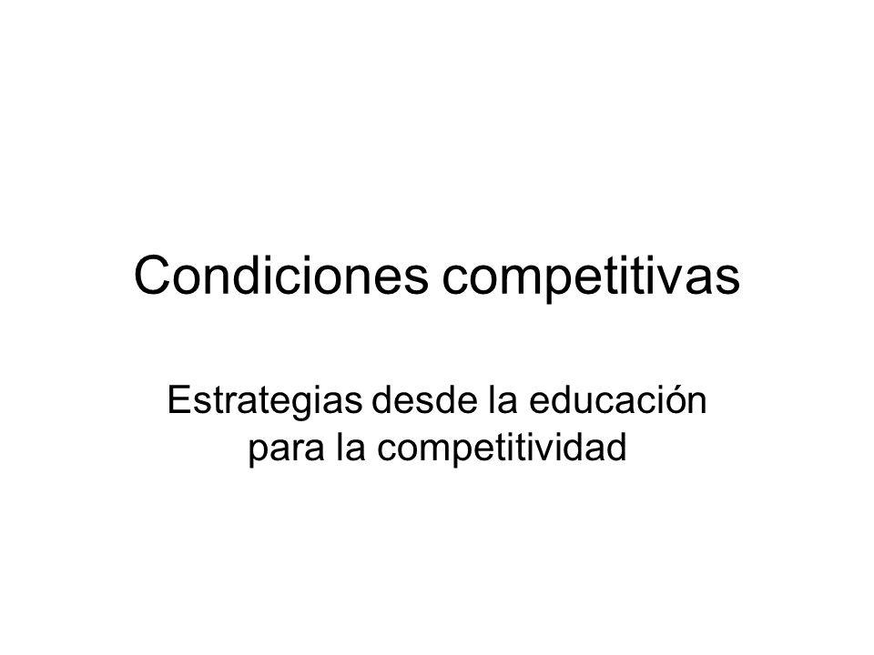 Condiciones competitivas
