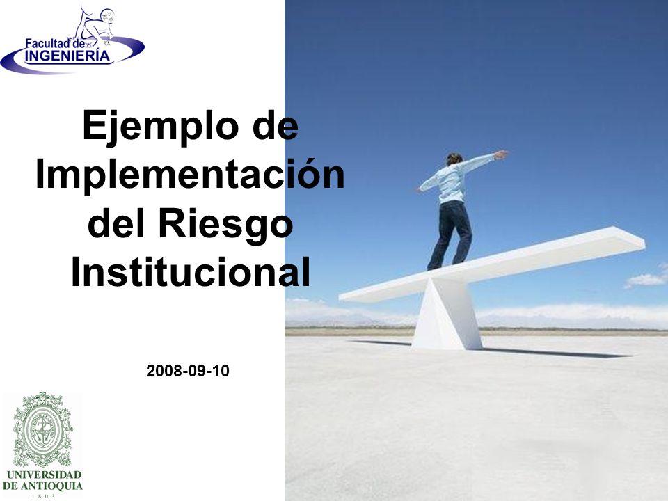 Ejemplo de Implementación del Riesgo Institucional