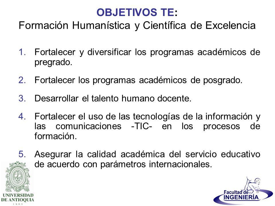 OBJETIVOS TE: Formación Humanística y Científica de Excelencia
