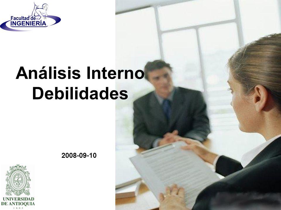 Análisis Interno Debilidades