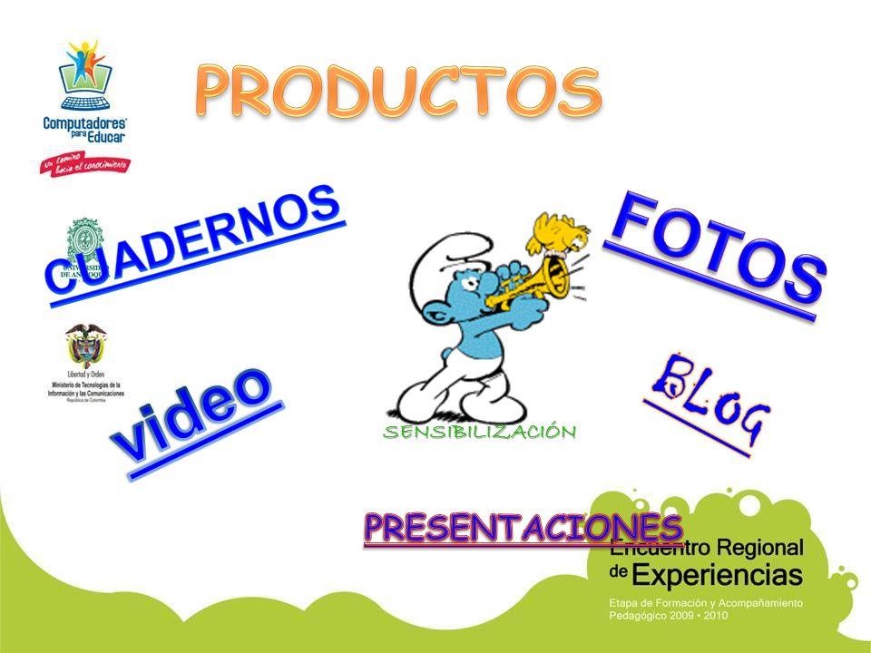 PRODUCTOS CUADERNOS FOTOS BLOG video SENSIBILIZACIÓN PRESENTACIONES