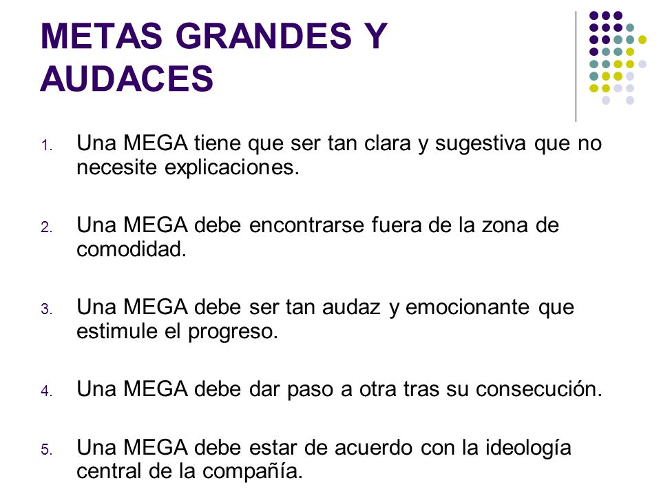 METAS GRANDES Y AUDACES