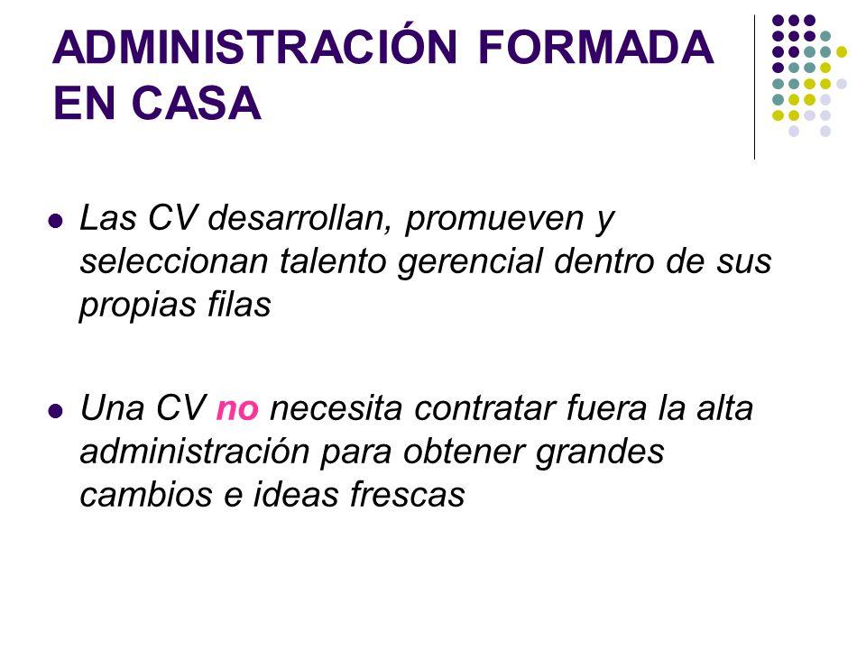ADMINISTRACIÓN FORMADA EN CASA