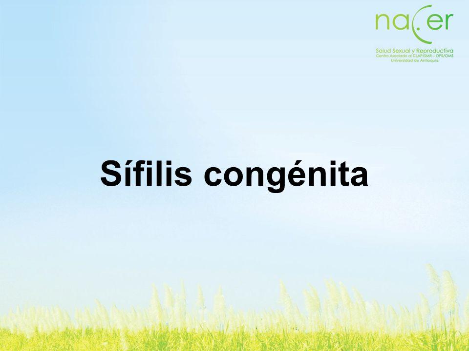 Sífilis congénita