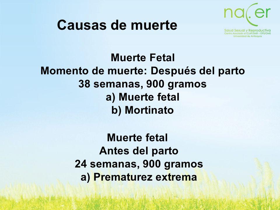 Momento de muerte: Después del parto