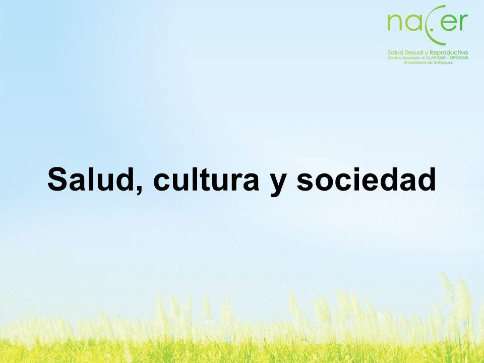 Salud, cultura y sociedad
