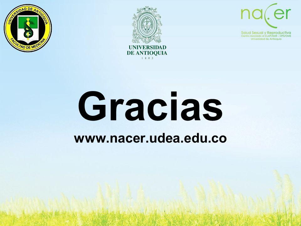Gracias www.nacer.udea.edu.co