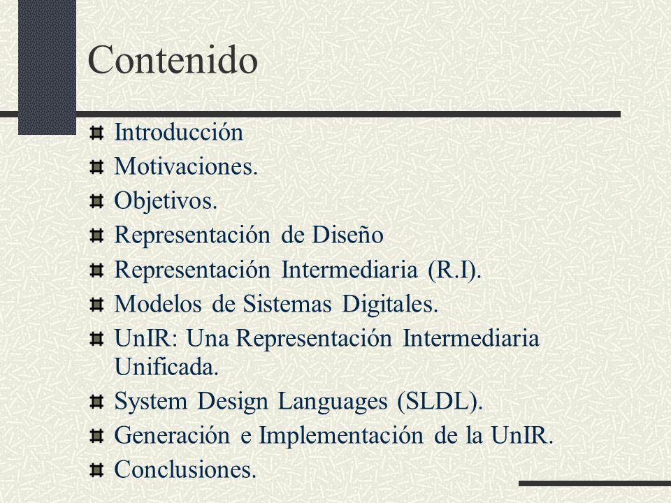 Contenido Introducción Motivaciones. Objetivos.