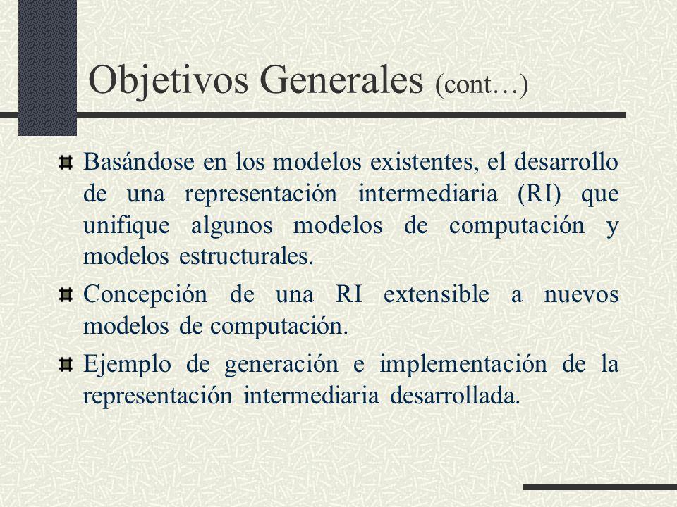 Objetivos Generales (cont…)