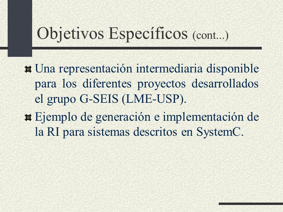 Objetivos Específicos (cont...)
