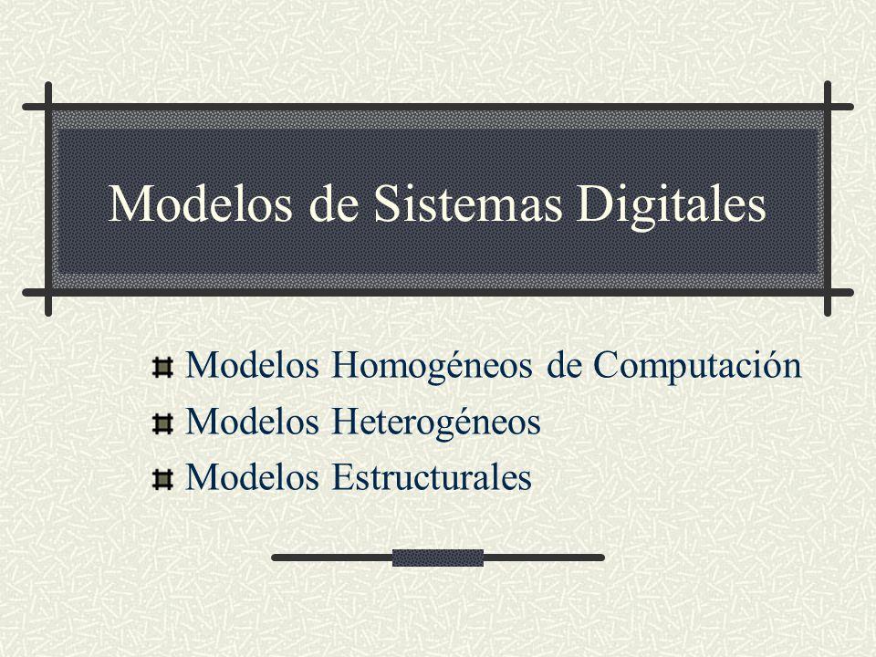 Modelos de Sistemas Digitales