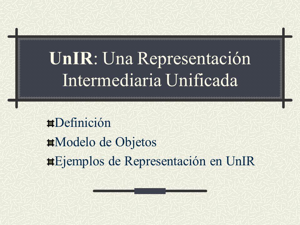 UnIR: Una Representación Intermediaria Unificada