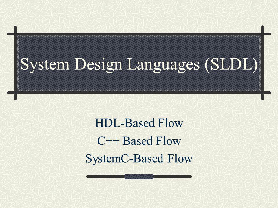 System Design Languages (SLDL)