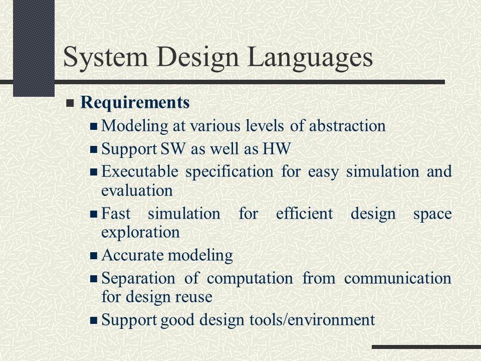 System Design Languages
