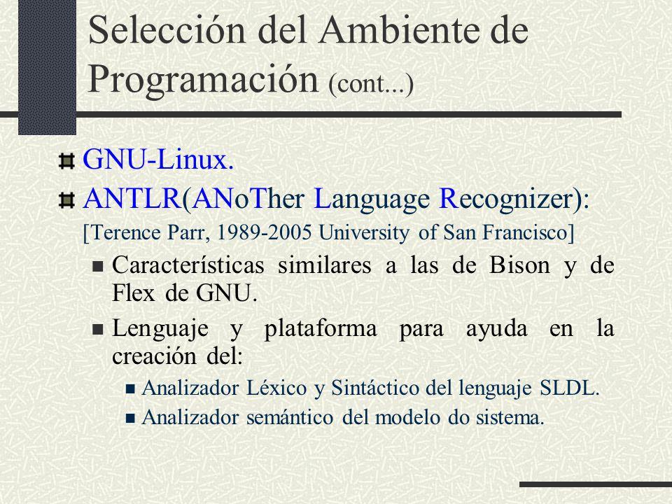 Selección del Ambiente de Programación (cont...)