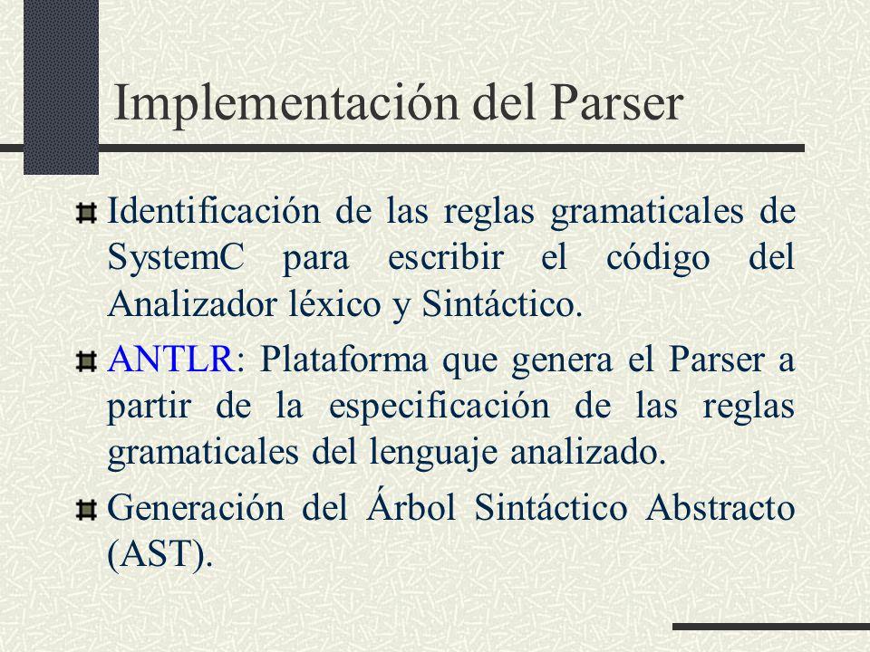 Implementación del Parser