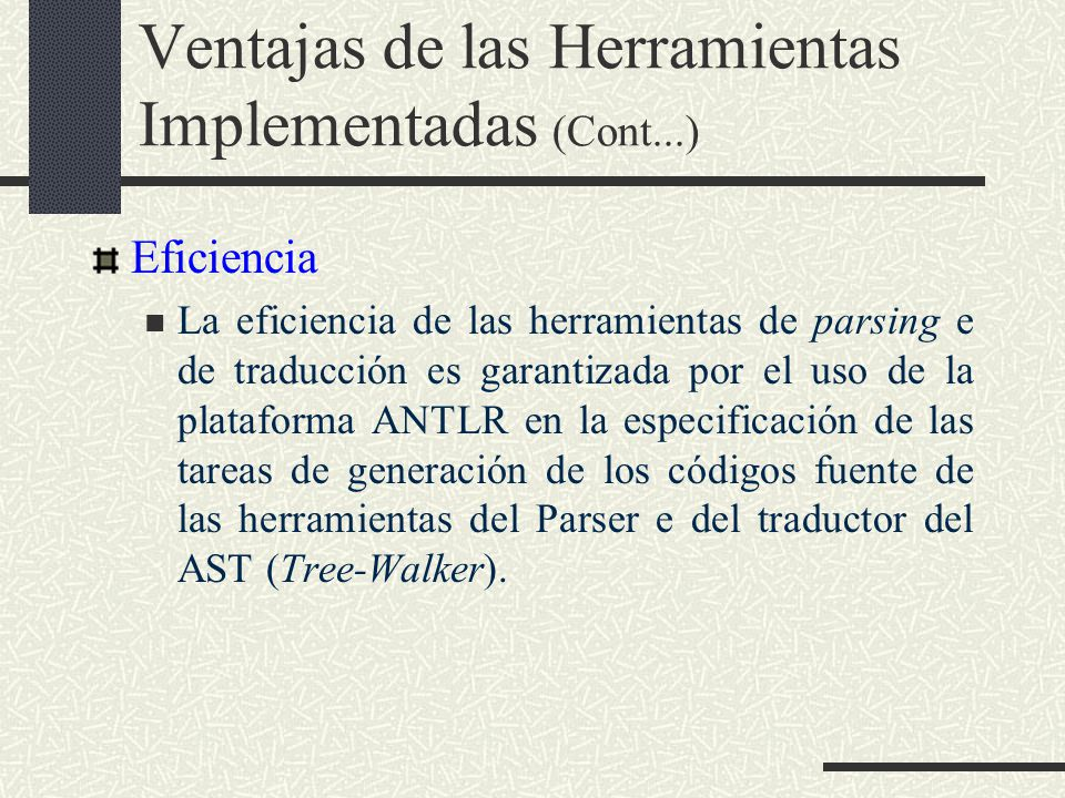 Ventajas de las Herramientas Implementadas (Cont...)