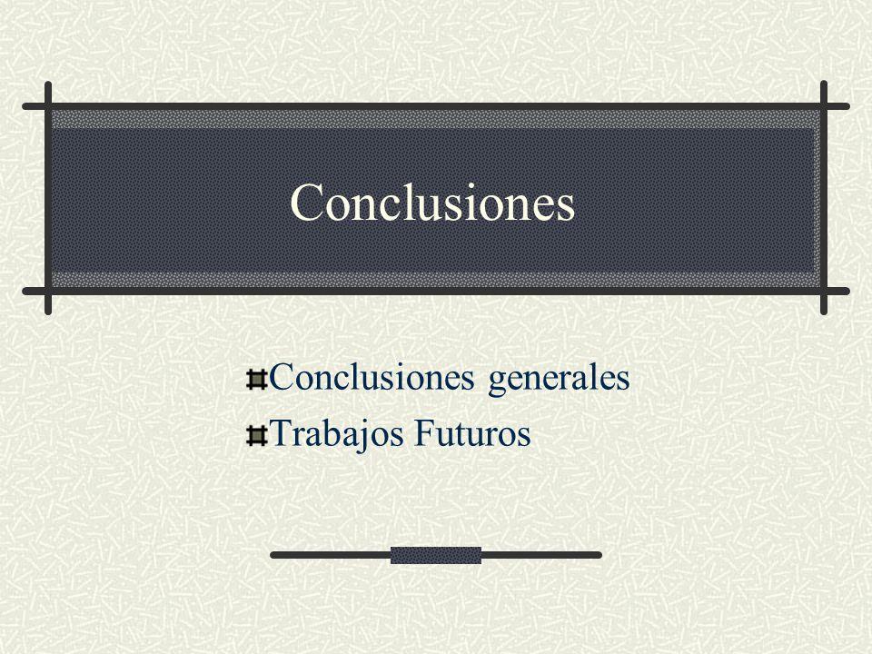 Conclusiones generales Trabajos Futuros