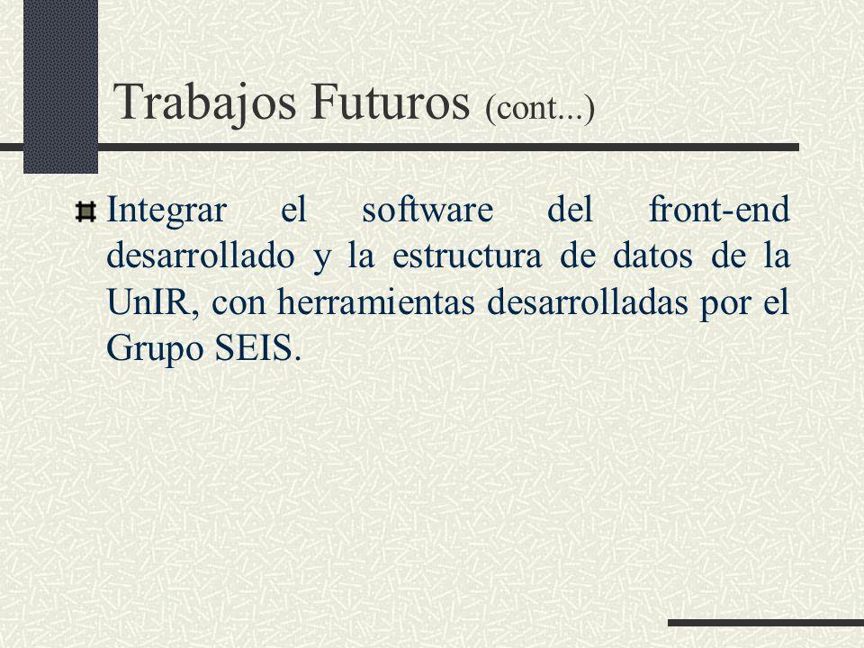 Trabajos Futuros (cont...)