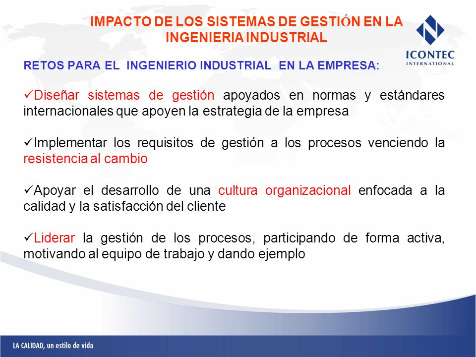 IMPACTO DE LOS SISTEMAS DE GESTIÓN EN LA INGENIERIA INDUSTRIAL