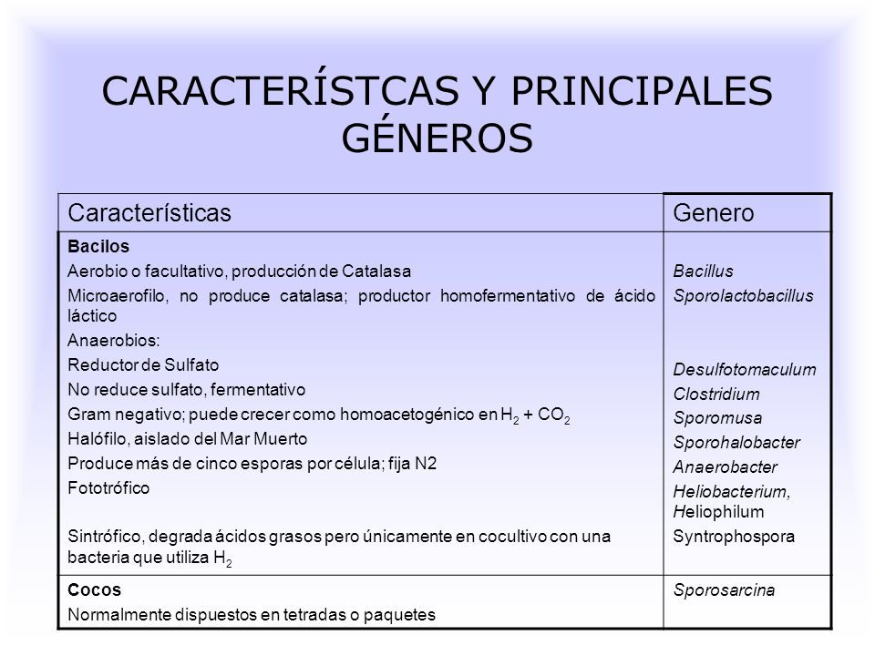 CARACTERÍSTCAS Y PRINCIPALES GÉNEROS