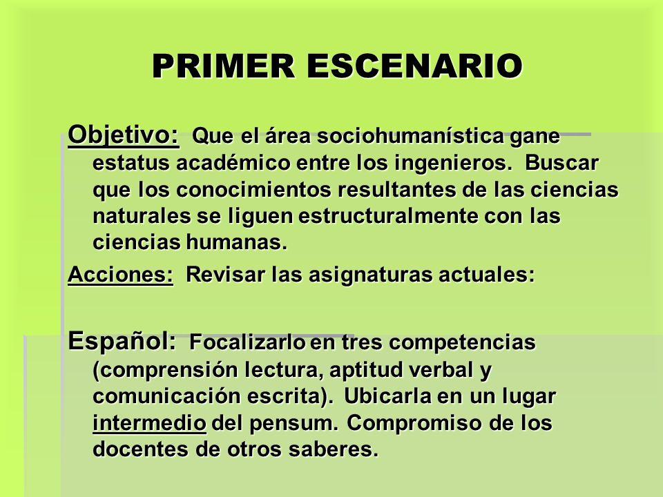 PRIMER ESCENARIO