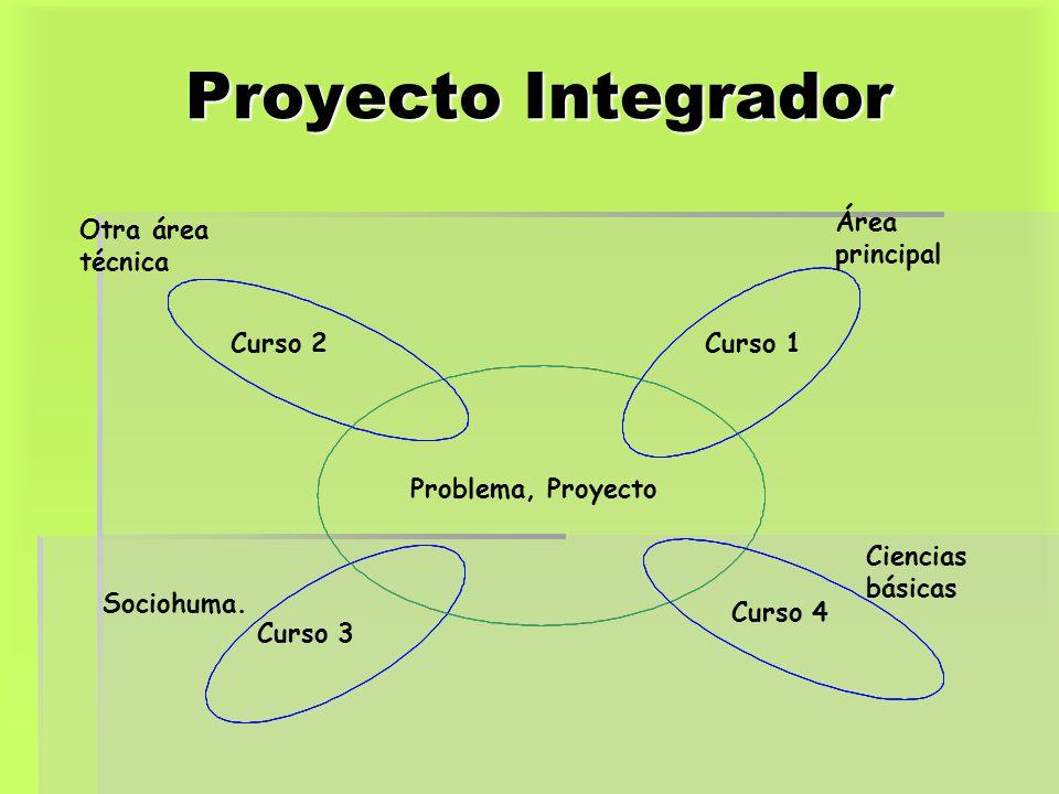 Proyecto Integrador Problema, Proyecto Curso 1 Curso 4 Curso 3 Curso 2