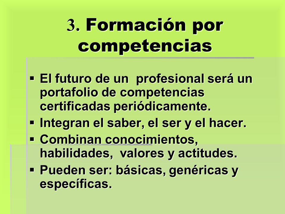 3. Formación por competencias