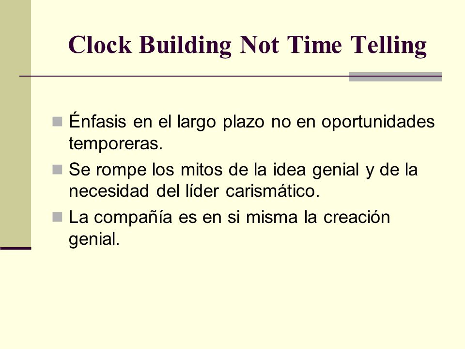 Clock Building Not Time Telling