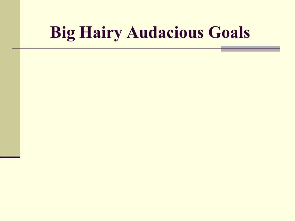 Big Hairy Audacious Goals