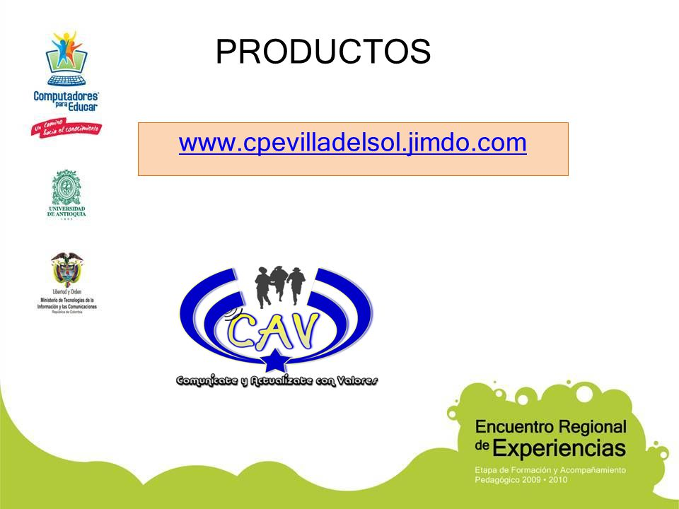 PRODUCTOS www.cpevilladelsol.jimdo.com