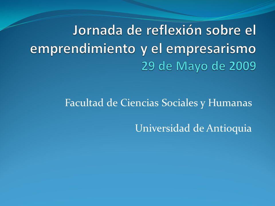 Facultad de Ciencias Sociales y Humanas Universidad de Antioquia