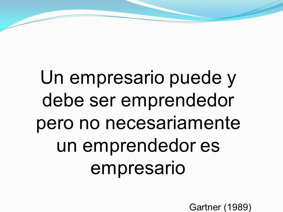 Un empresario puede y debe ser emprendedor pero no necesariamente un emprendedor es empresario