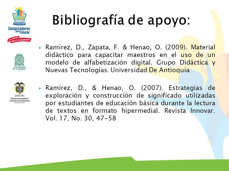 Bibliografía de apoyo: