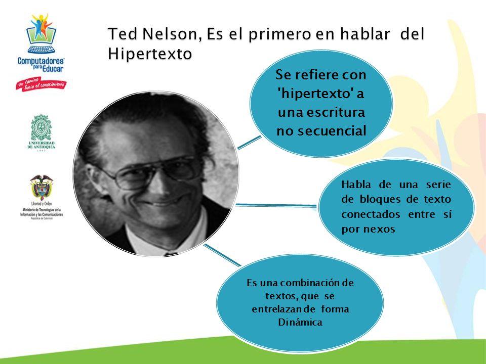 Ted Nelson, Es el primero en hablar del Hipertexto