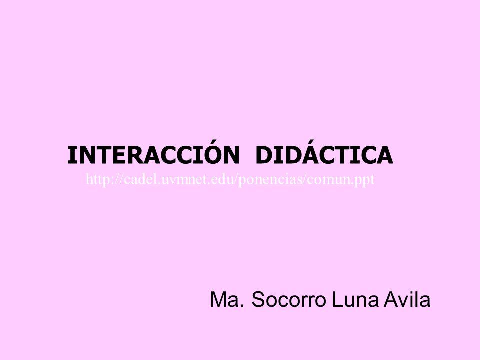 INTERACCIÓN DIDÁCTICA