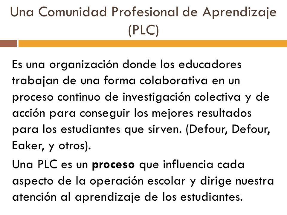 Una Comunidad Profesional de Aprendizaje (PLC)
