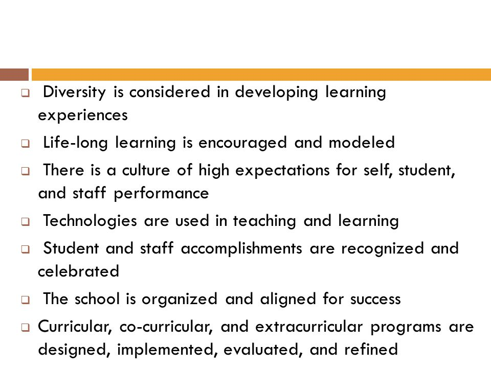 Diversity is considered in developing learning experiences