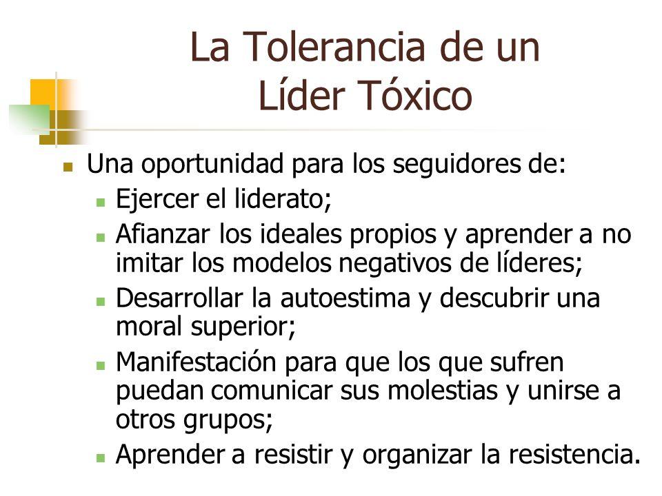 La Tolerancia de un Líder Tóxico