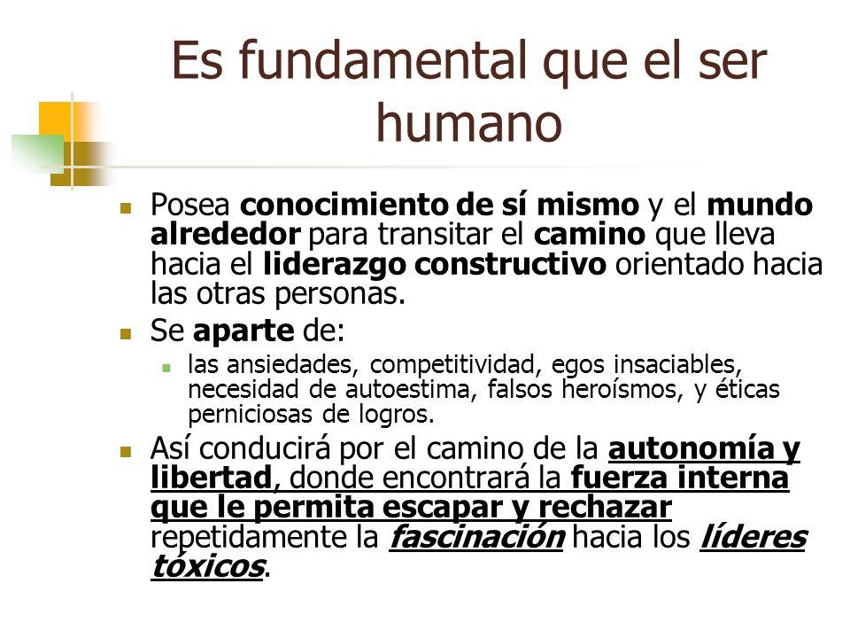 Es fundamental que el ser humano