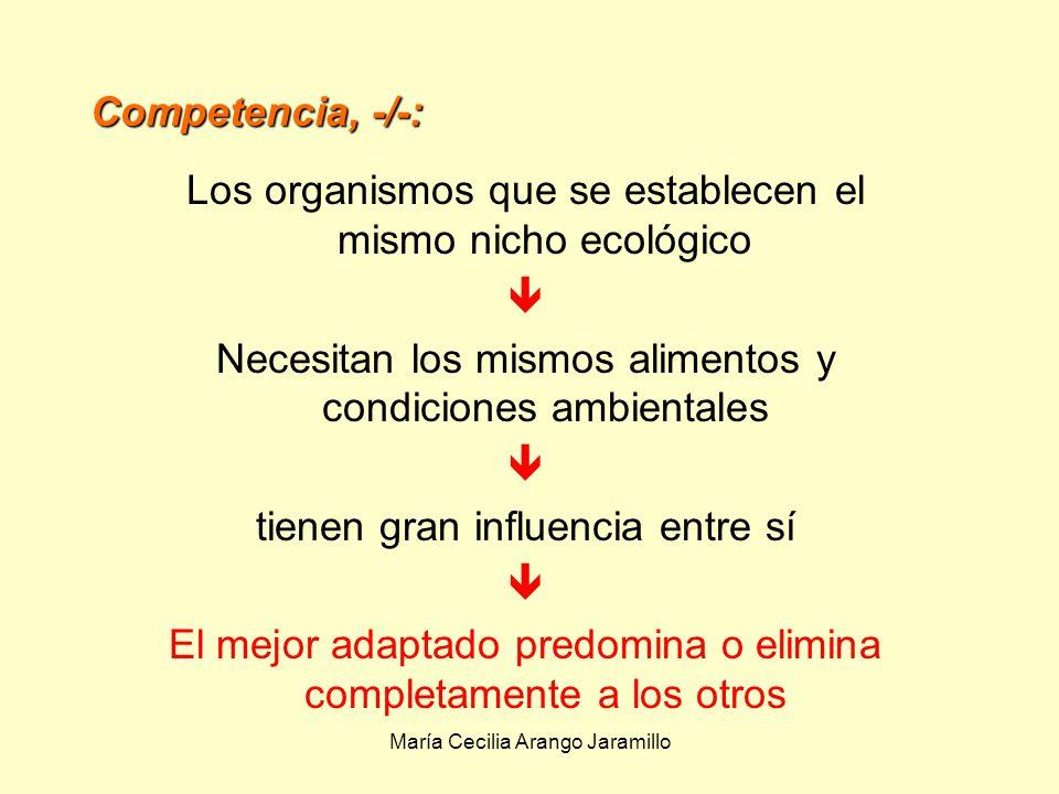 Los organismos que se establecen el mismo nicho ecológico 
