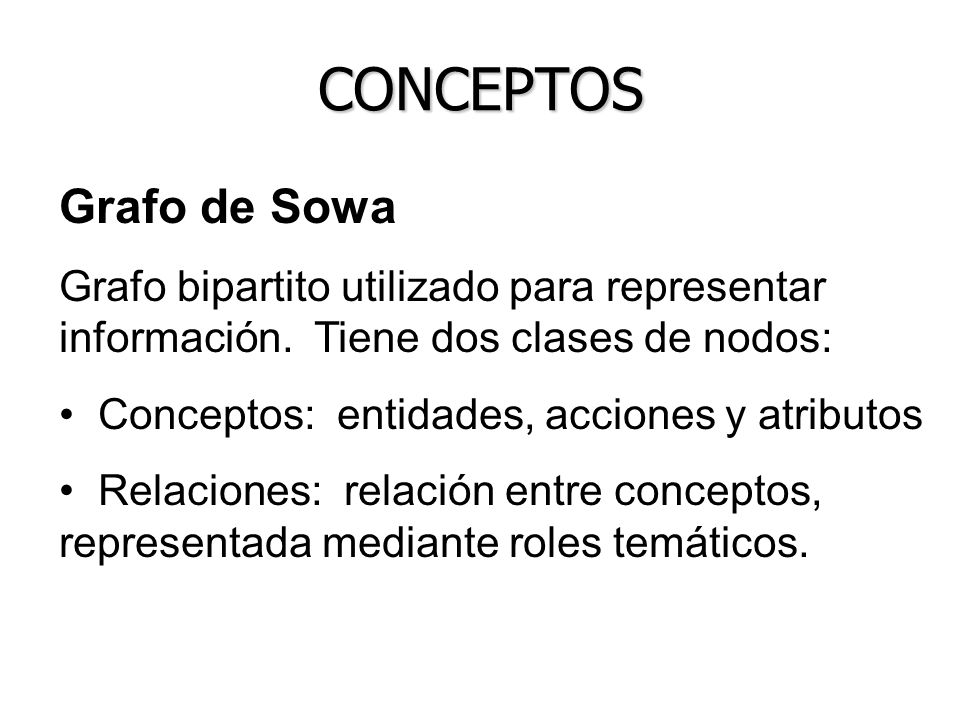 CONCEPTOS Grafo de Sowa