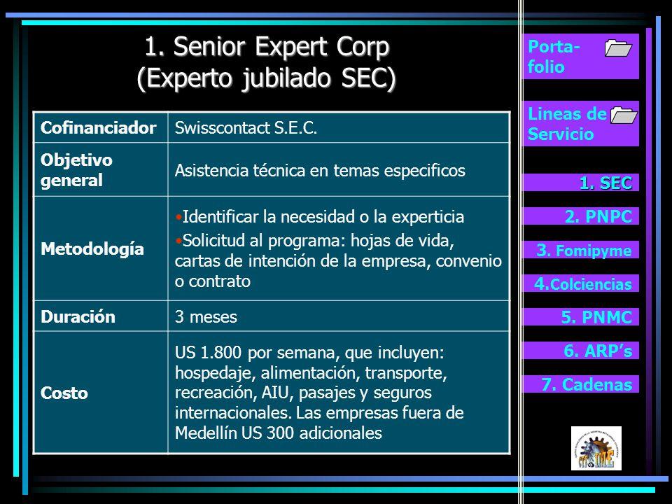 1. Senior Expert Corp (Experto jubilado SEC)
