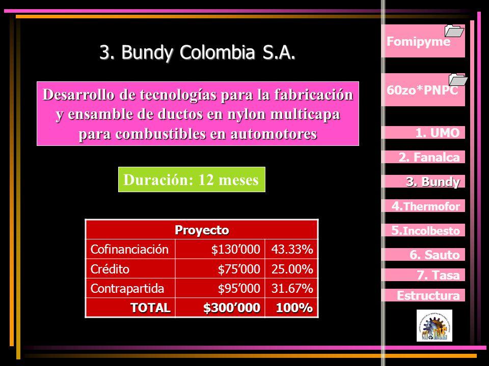 Fomipyme 3. Bundy Colombia S.A. 60zo*PNPC.