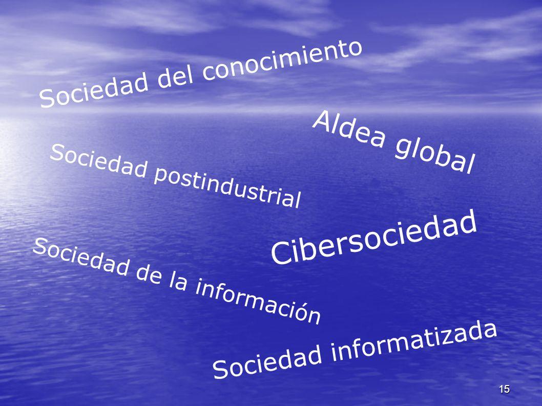 Cibersociedad Aldea global Sociedad del conocimiento
