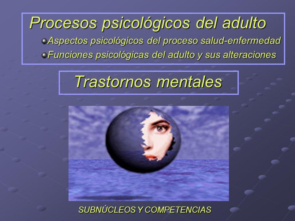 Procesos psicológicos del adulto