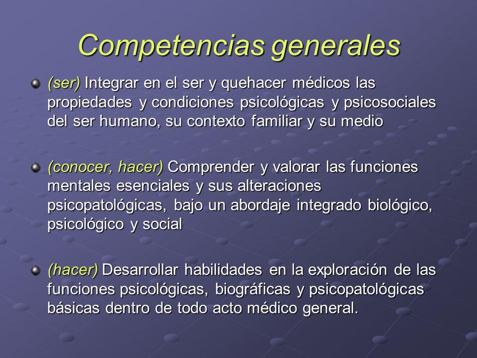 Competencias generales